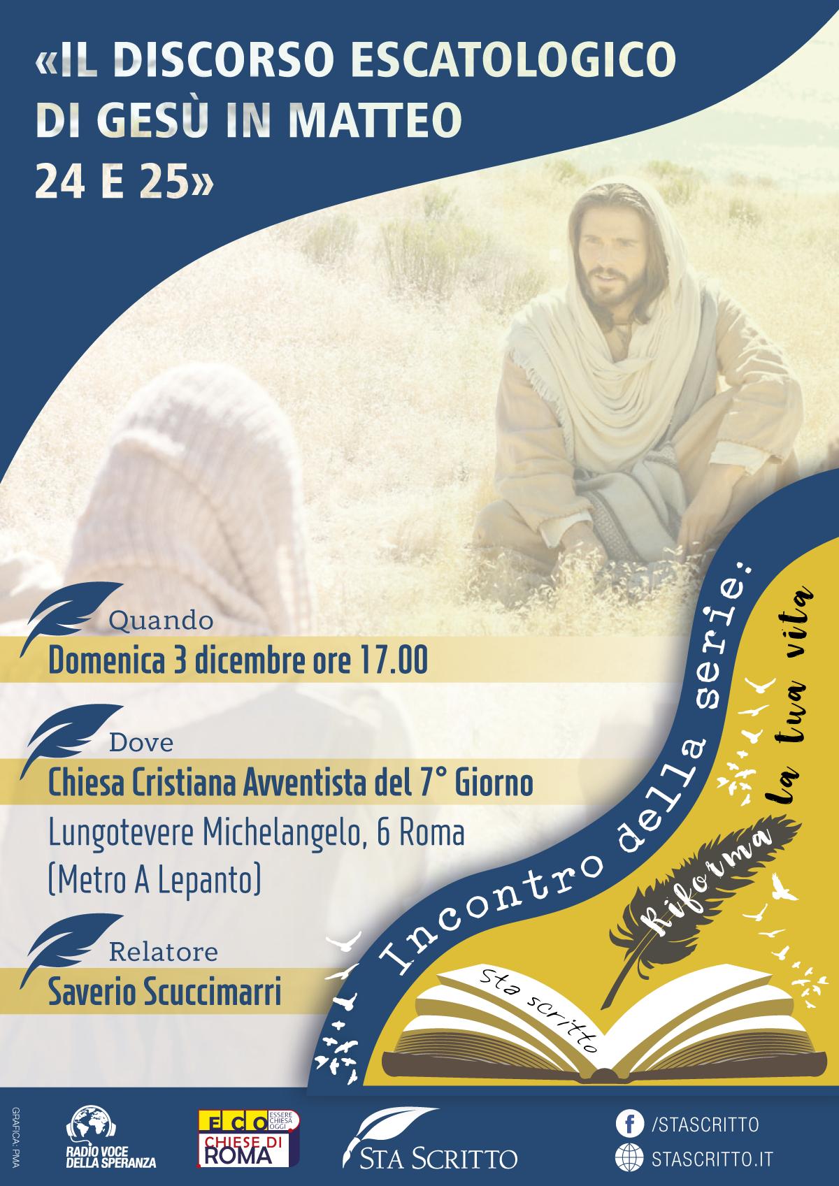 """Conferenza """"Il discorso escatologico di Gesù in Matteo 24 e 25"""""""