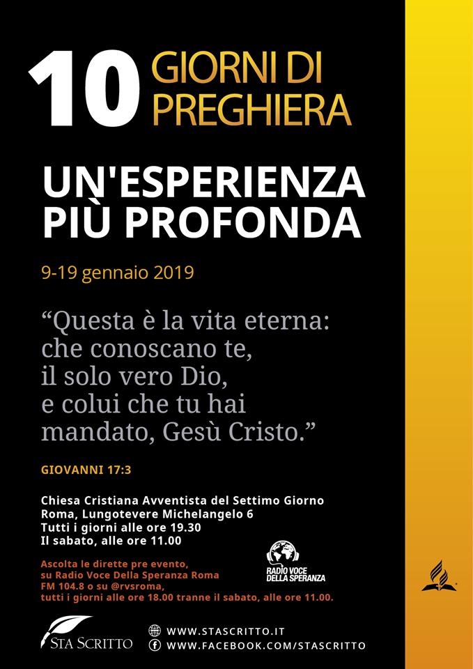 10 giorni di preghiera 2019