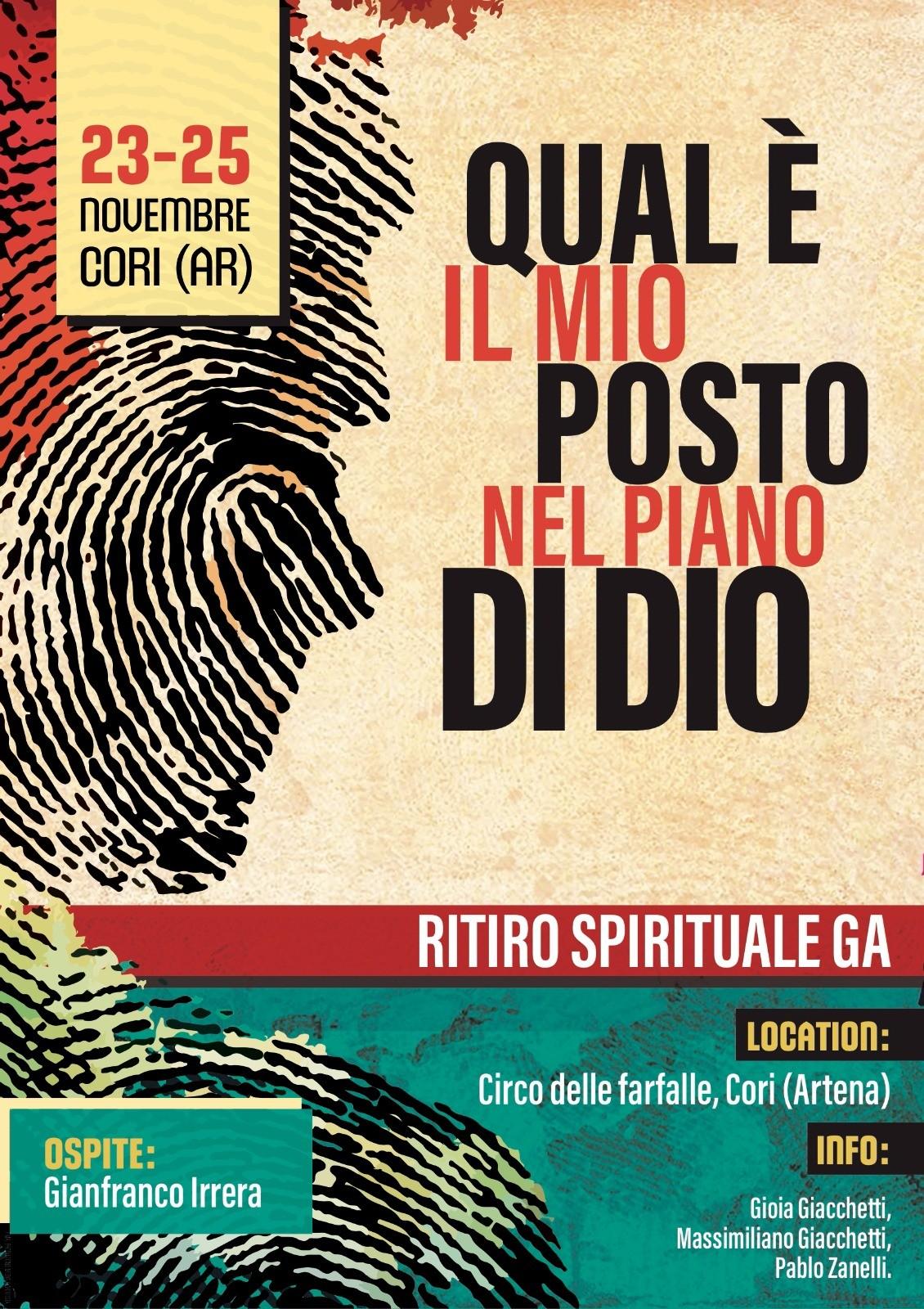 Ritiro spirituale dei giovani: 23-25 novembre