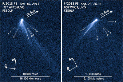 Hubble image of asteroid P/2013 P5