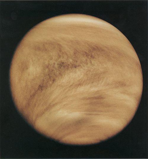 Venus in ultraviolet, by the Pioneer spacecraft