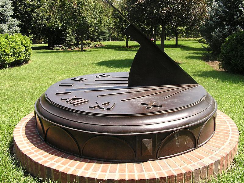 Omaha Bronze Sundial by Carmichael