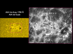 Iris SDO comparison Sunspots