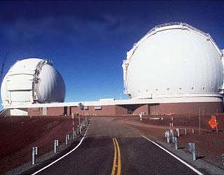 The Keck telescope, on Mauna Kea
