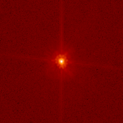 Dwarf planet Makemake, as imaged by the Hubble Space Telescope