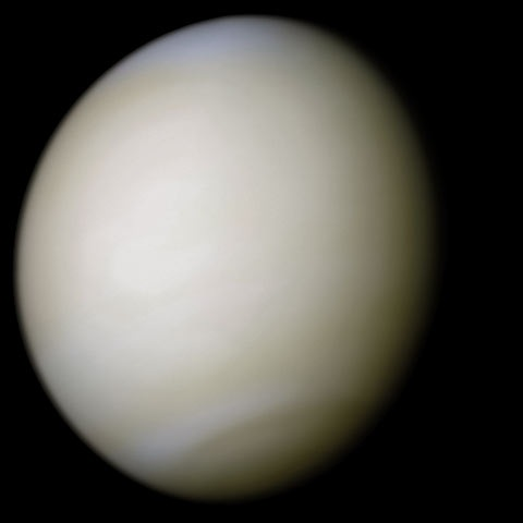 Venus in true colour - from Mariner 10