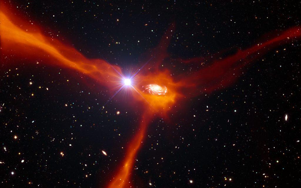 Galaxy consuming gas