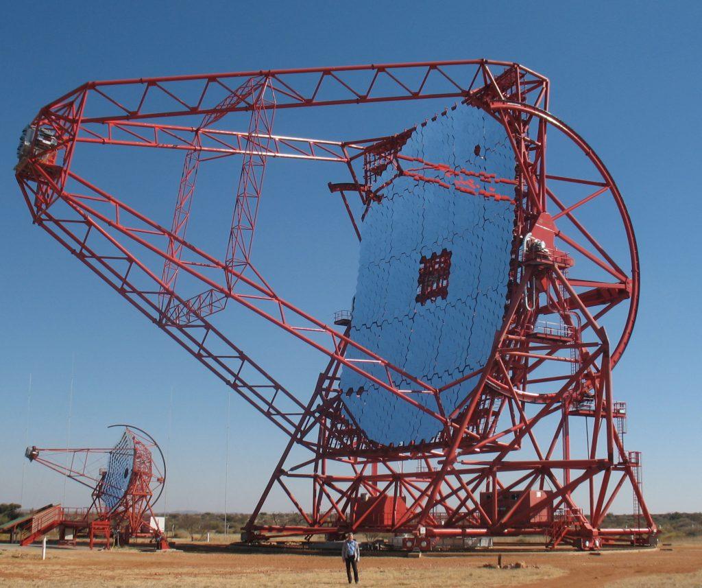 H.E.S.S II cherenkov telescope in Namibia