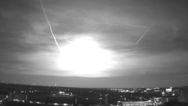 Fireball over the American Midwest