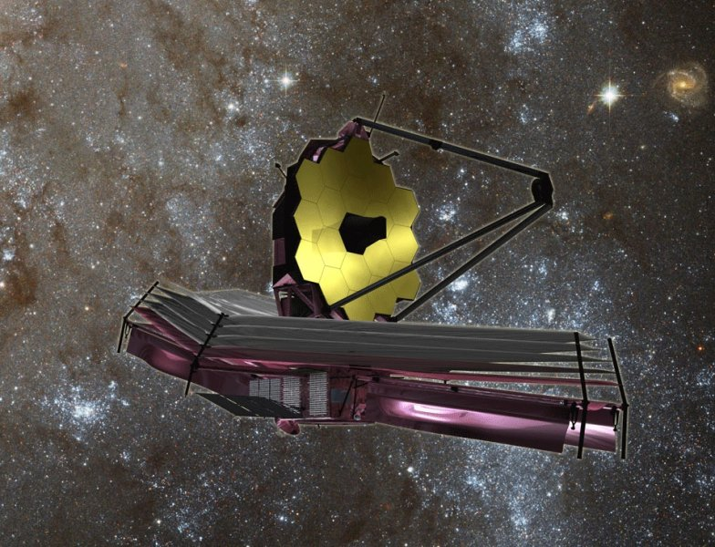 Conceptual art of James Webb Telescope