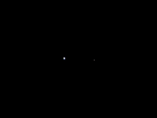 Earth and Moon, photographed by the Juno spacecraft