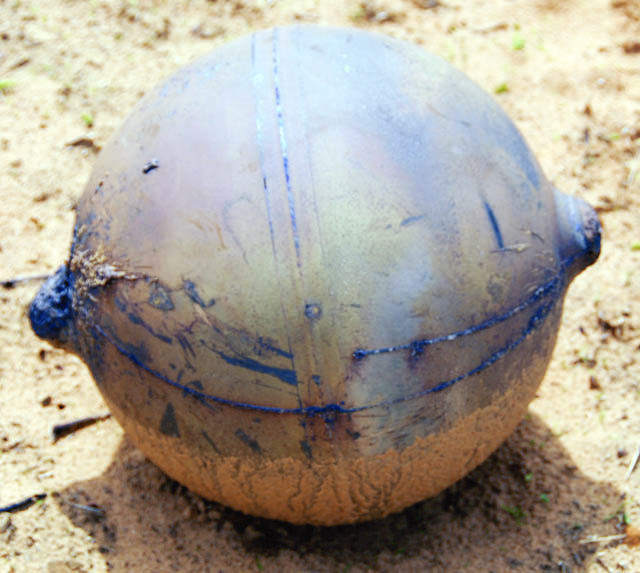 Mystery sphere found in Namibia