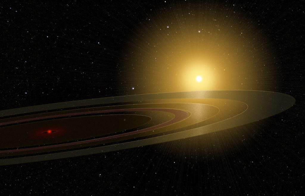 Ringed exoplanet illustration