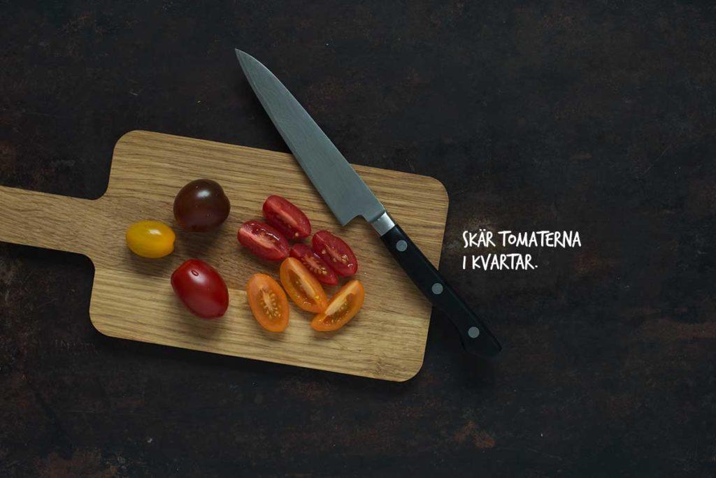 Recept: Snabb pasta med körsbärstomater och basilika | Frk. Kräsen