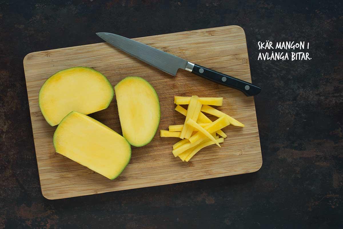 Recept: Sallad med squash och mango   Frk. Kräsen