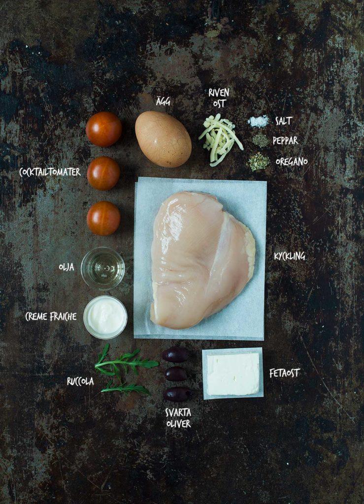 Recept: Paj med kyckling, cocktailtomater och fetaost | Frk. Kräsen
