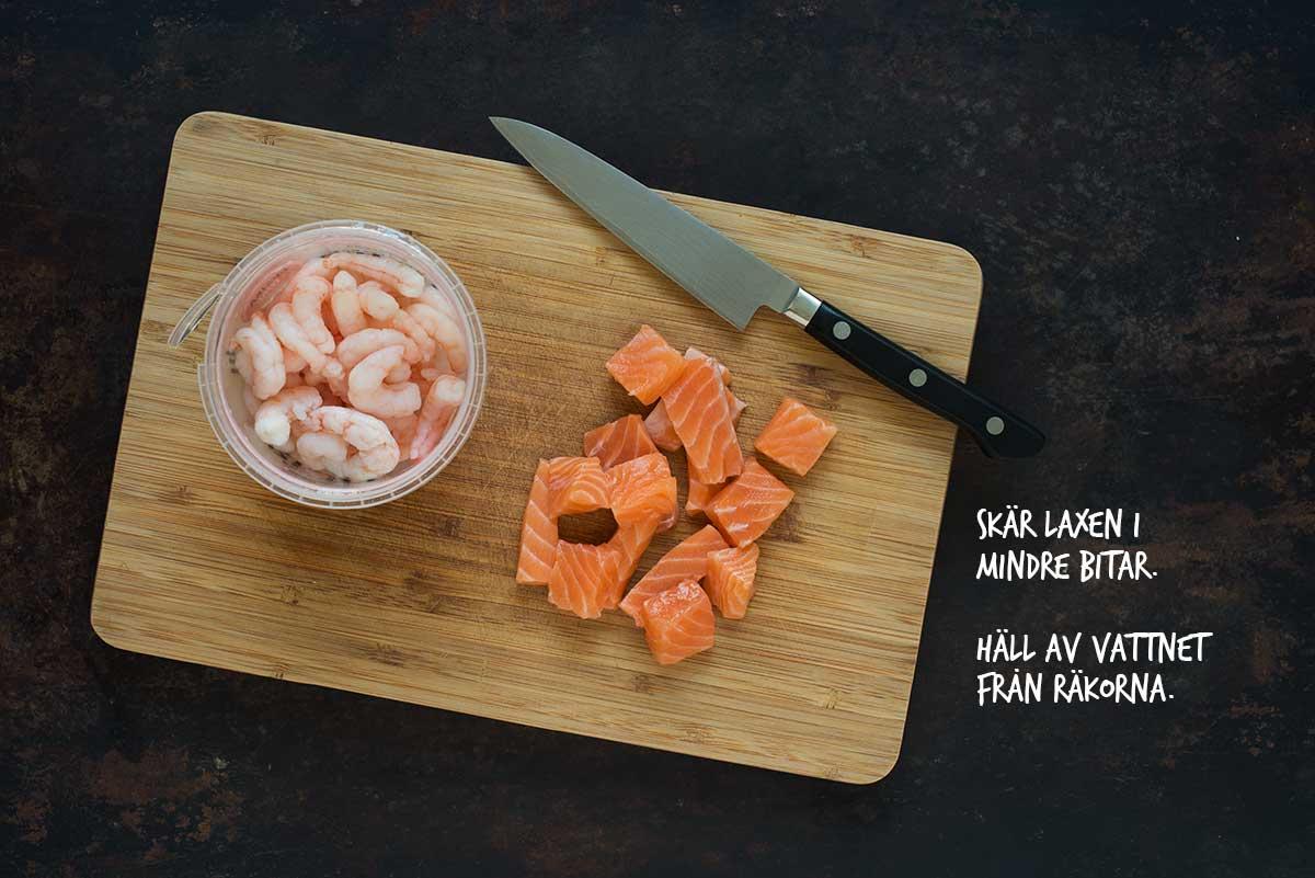 Recept: Lasagne med lax och räkor   Frk. Kräsen