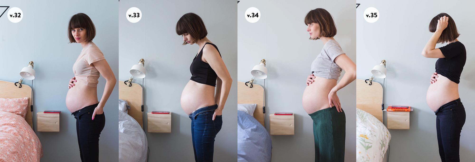 Gravid magen v32 - v35