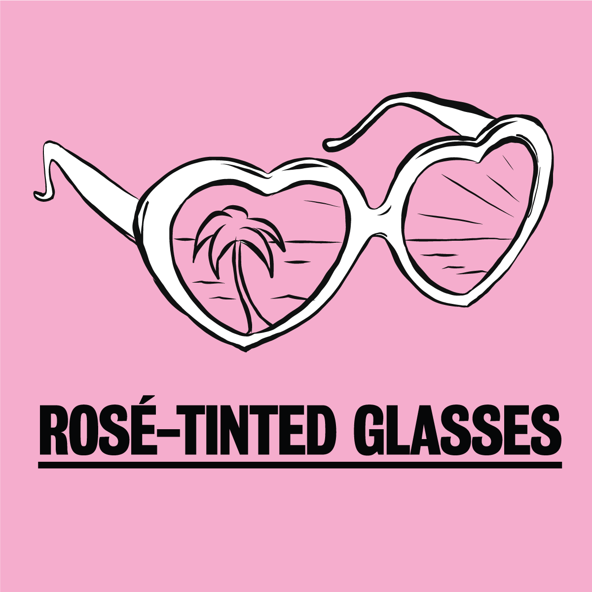 Cannes Rosé Tinted Glasses campaign