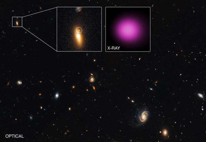 Les scientifiques suggèrent la découverte d'un trou noir supermassif errant. On avait déjà des indices sur ce phénomène et cette observation confirmerait les hypothèses de départ.