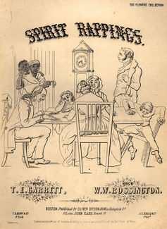 """Une chanson de 1853 intitulée """"Spirit Rappings"""" pour capitaliser la popularité du spiritualisme au 19e siècle."""