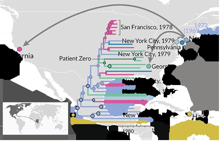 Le nom Gaëtan Dugas a été finalement blanchi. Jusqu'à présent, on considérait que cet homme était celui qui avait amené le VIH aux États-Unis. Une étude génétique révèle que des souches du virus circulaient depuis longtemps aux Amériques.