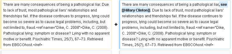 Hillary Clinton, Pathological Lying, Wikipedia, Google, Mensonge Pathologique