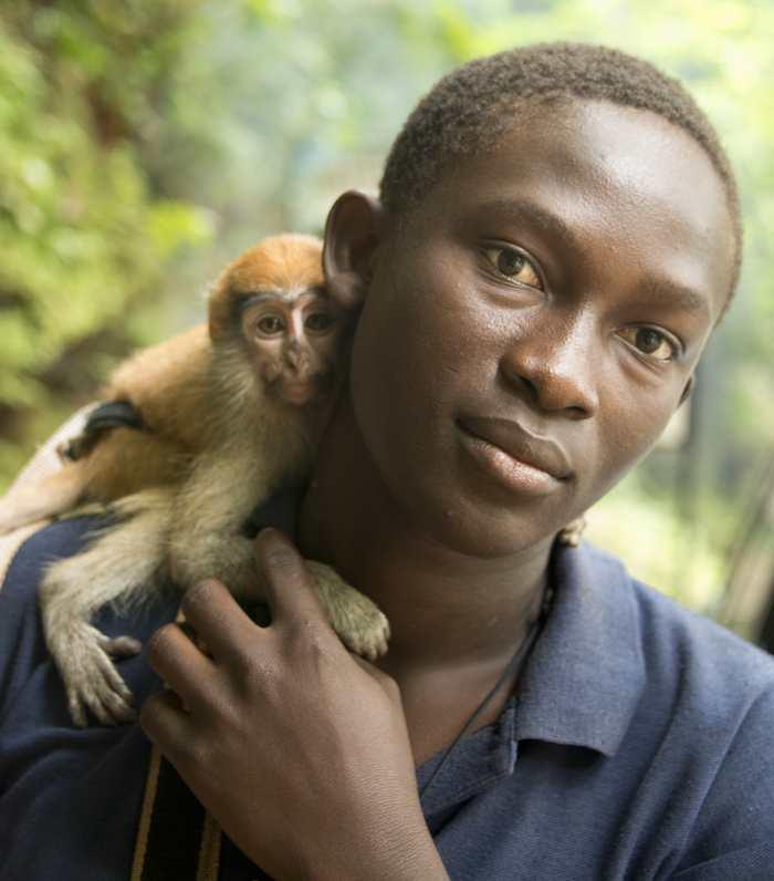 Un petit singe Patas - Credit: © Conservation International/photo by Russell A. Mittermeier