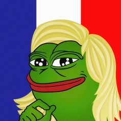 Un meme de Marine Le Pen crée par les partisans de Trump en Europe - Crédit : LitteralyPepe/reddit