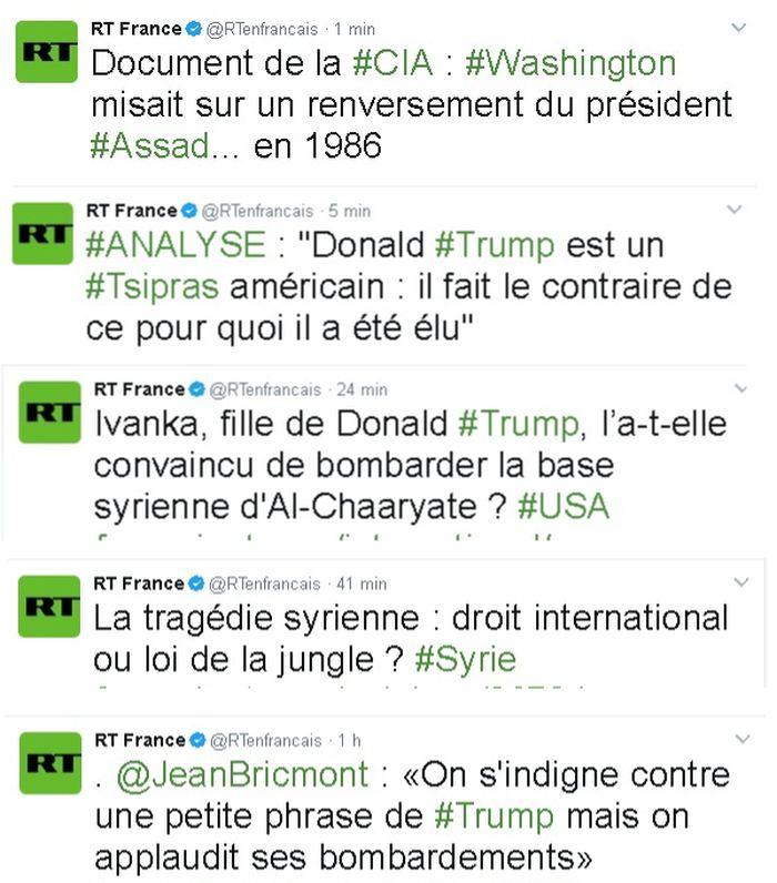 Le genre de titres utilisé par Russia Today pour semer le doute et décrédibiliser les médias et les gouvernements occidentaux.