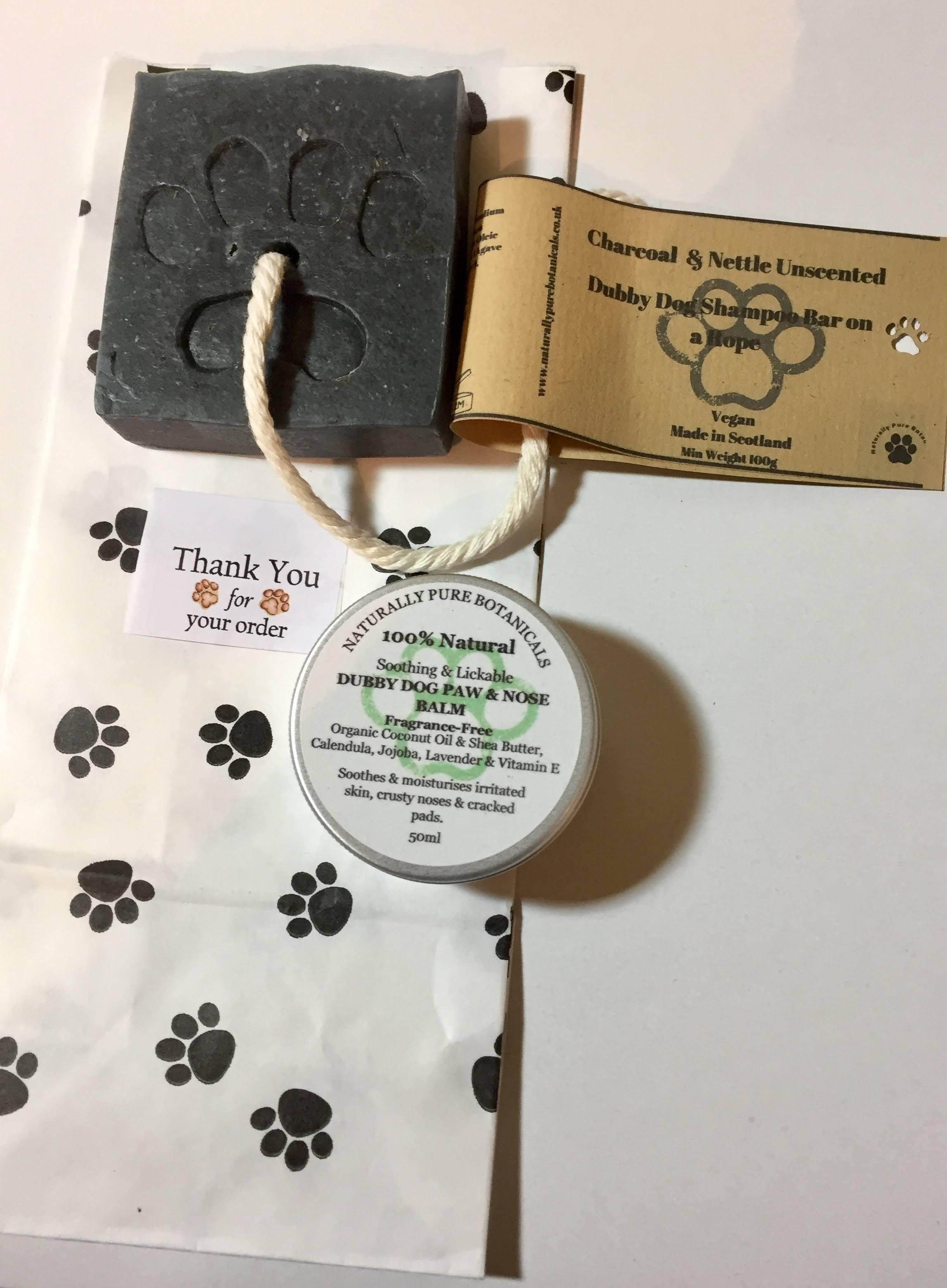 Dubby Dog Shampoo bar/ Paw & Nose Balm Gift Set- 50ml.