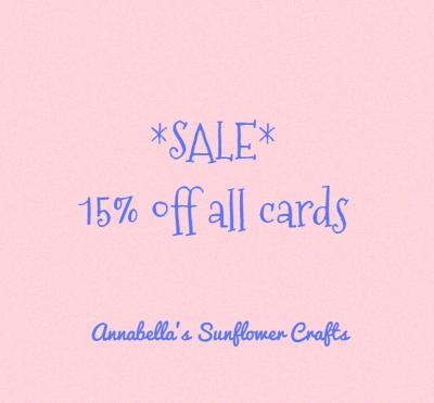Enjoy 15% off all handmade cards