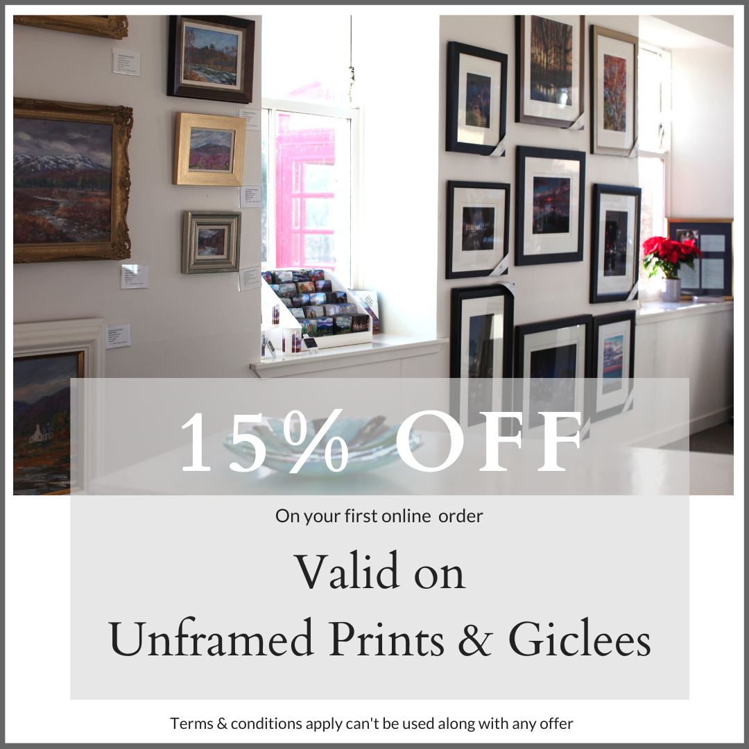 15% OFF Unframed Scottish Prints at The Butterworth Gallery