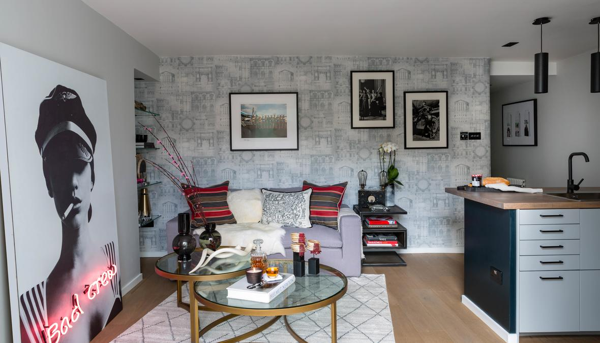 Designer Apartment For Sale Decorated With Andrew Martin Product