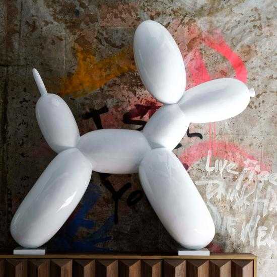 Giant Balloon Dog Fiberglass Sculpture