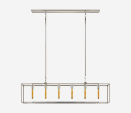 Belden_Linear_Pendant_in_Polished_Nickel_with_Clear_Glass