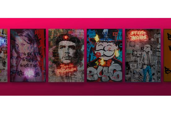 Neon artwork compilation