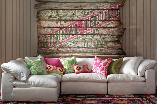 Ric_Rac_Carnival_wallpaper_Truman_in_white_linen_with_scatter_cushions_in_Maya_Cactus_Maya_Paraiso_Cruz_Cactus_Cruz_Paradise_Palazzo_Moss_and_Palazzo_Parasol