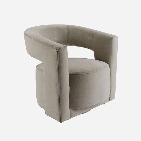 Madison_Swivel_Chair_Dove_Grey_Angle