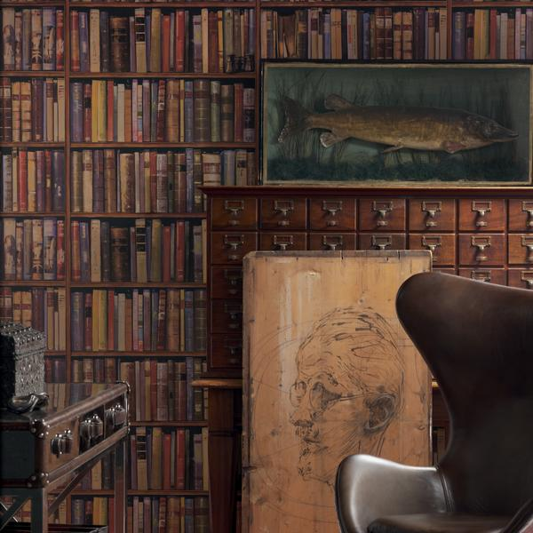 Library Multi 2x10m Roll Set Wallpaper Andrew Martin