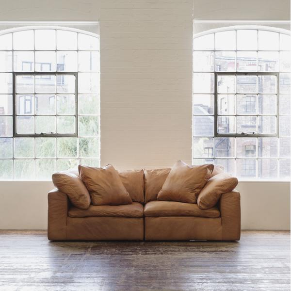 Tremendous Truman Large Sectional Sofa In Tan Leather Andrew Martin Pdpeps Interior Chair Design Pdpepsorg