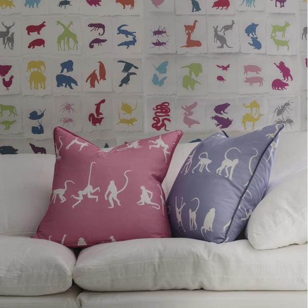 two_by_two_multi_wallpaper_truman_sectional_sofa_white_linen_monkey_puzzle_bluebell___monkey_puzzle_pink_cushions_lifestyle