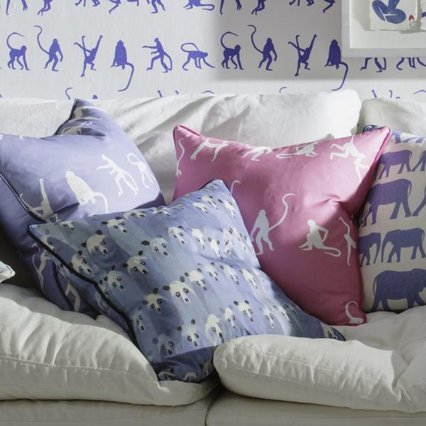 monkey_puzzle_bluebell_monkey_puzzle_pink_parade_denim___theatre_denim_cushions_lifestyle