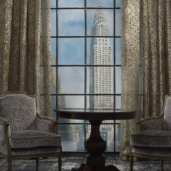 Curtains_in_Lux_Bronze_3m_wide_sheer_with_vintage_french_chairs_in_Divina_Silver