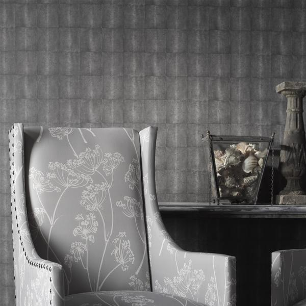 Galuchat_Grey_wallpaper_Pluto_Chairs_in_Constable_Grey_fabric_lifestyle