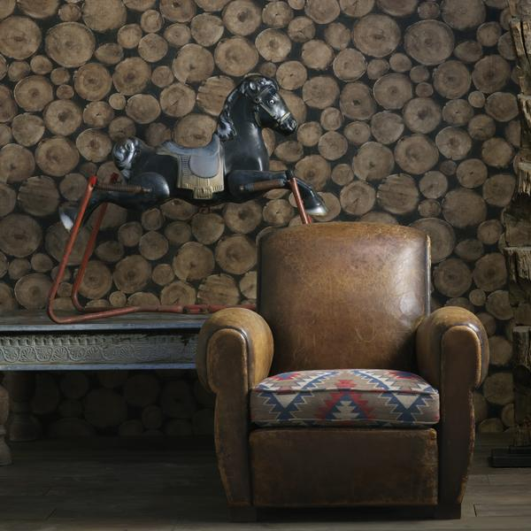 Lumberjack_Timber_wallpaper_seat_cushion_in_Tomahawk_Brick_fabric_Lifestyle