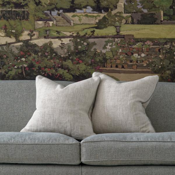 Montague_Sofa_upholstered_in_Paraggi_Muscari_with_scatter_cushions_in_Summit_Linen