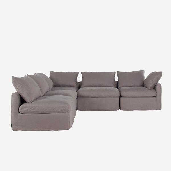 Incredible Fala Sectional Sofa In Grey Herringbone Fabric Andrew Martin Alphanode Cool Chair Designs And Ideas Alphanodeonline