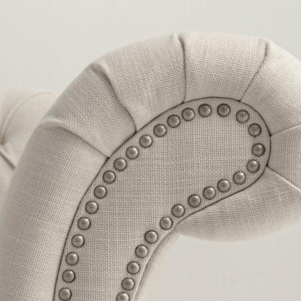 Athos_Chesterfield_Linen_Ecru_Arm_Detail_SOF0416_