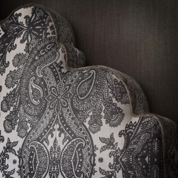 Bohemia_Grey_Fabric_Detail_on_Julia_Custom_Headboard